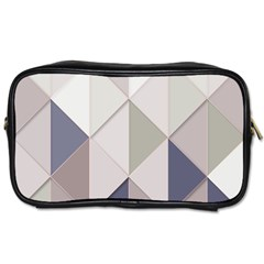 Background Geometric Triangle Toiletries Bags 2 Side