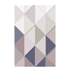 Background Geometric Triangle Shower Curtain 48  X 72  (small)