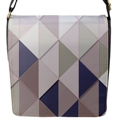 Background Geometric Triangle Flap Messenger Bag (s)
