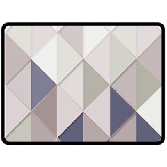 Background Geometric Triangle Double Sided Fleece Blanket (large)