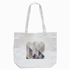 Background Geometric Triangle Tote Bag (white)