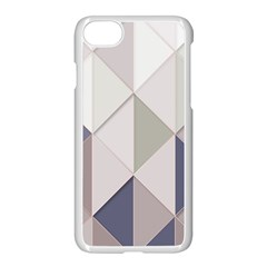Background Geometric Triangle Apple Iphone 7 Seamless Case (white)
