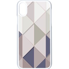 Background Geometric Triangle Apple Iphone X Seamless Case (white) by Nexatart