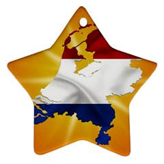 Holland Country Nation Netherlands Flag Ornament (star)