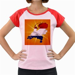 Holland Country Nation Netherlands Flag Women s Cap Sleeve T Shirt