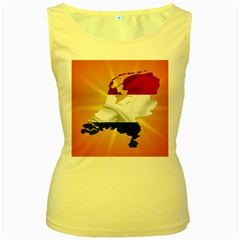 Holland Country Nation Netherlands Flag Women s Yellow Tank Top