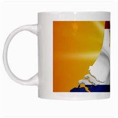 Holland Country Nation Netherlands Flag White Mugs