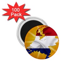 Holland Country Nation Netherlands Flag 1 75  Magnets (100 Pack)