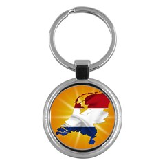 Holland Country Nation Netherlands Flag Key Chains (round)