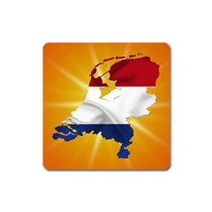 Holland Country Nation Netherlands Flag Square Magnet by Nexatart