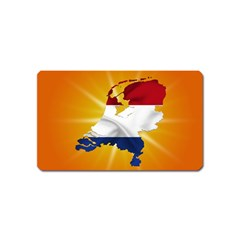 Holland Country Nation Netherlands Flag Magnet (name Card)
