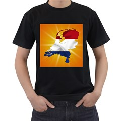 Holland Country Nation Netherlands Flag Men s T Shirt (black) (two Sided)
