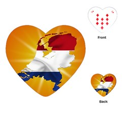 Holland Country Nation Netherlands Flag Playing Cards (heart)  by Nexatart