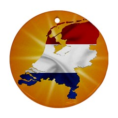 Holland Country Nation Netherlands Flag Round Ornament (two Sides)