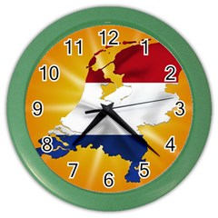 Holland Country Nation Netherlands Flag Color Wall Clocks