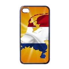 Holland Country Nation Netherlands Flag Apple Iphone 4 Case (black)
