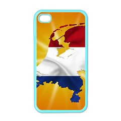 Holland Country Nation Netherlands Flag Apple Iphone 4 Case (color)