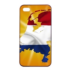 Holland Country Nation Netherlands Flag Apple Iphone 4/4s Seamless Case (black) by Nexatart