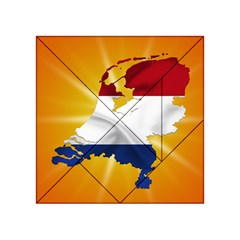 Holland Country Nation Netherlands Flag Acrylic Tangram Puzzle (4  X 4 ) by Nexatart