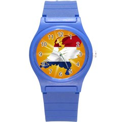 Holland Country Nation Netherlands Flag Round Plastic Sport Watch (s)