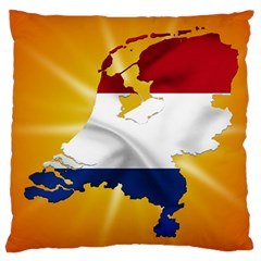 Holland Country Nation Netherlands Flag Large Cushion Case (two Sides)