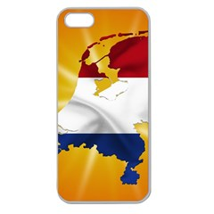 Holland Country Nation Netherlands Flag Apple Seamless Iphone 5 Case (clear)
