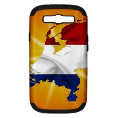 Holland Country Nation Netherlands Flag Samsung Galaxy S Iii Hardshell Case (pc+silicone)