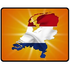 Holland Country Nation Netherlands Flag Double Sided Fleece Blanket (medium)