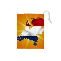 Holland Country Nation Netherlands Flag Drawstring Pouches (small)