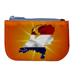 Holland Country Nation Netherlands Flag Large Coin Purse