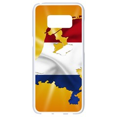 Holland Country Nation Netherlands Flag Samsung Galaxy S8 White Seamless Case