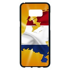 Holland Country Nation Netherlands Flag Samsung Galaxy S8 Plus Black Seamless Case