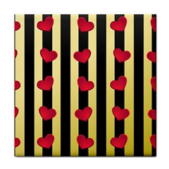 Love Heart Pattern Decoration Abstract Desktop Tile Coasters