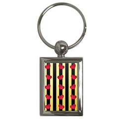 Love Heart Pattern Decoration Abstract Desktop Key Chains (rectangle)