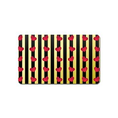 Love Heart Pattern Decoration Abstract Desktop Magnet (name Card)