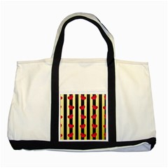 Love Heart Pattern Decoration Abstract Desktop Two Tone Tote Bag