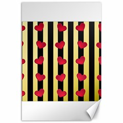 Love Heart Pattern Decoration Abstract Desktop Canvas 24  X 36
