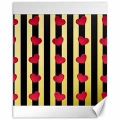 Love Heart Pattern Decoration Abstract Desktop Canvas 11  X 14