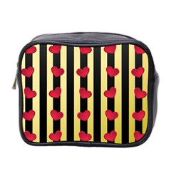 Love Heart Pattern Decoration Abstract Desktop Mini Toiletries Bag 2 Side