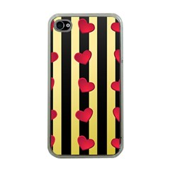 Love Heart Pattern Decoration Abstract Desktop Apple Iphone 4 Case (clear)