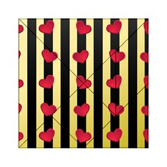 Love Heart Pattern Decoration Abstract Desktop Acrylic Tangram Puzzle (6  X 6 )