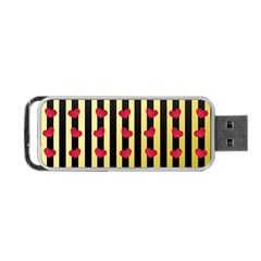 Love Heart Pattern Decoration Abstract Desktop Portable Usb Flash (one Side)