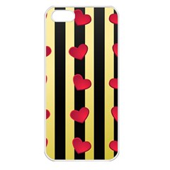 Love Heart Pattern Decoration Abstract Desktop Apple Iphone 5 Seamless Case (white)