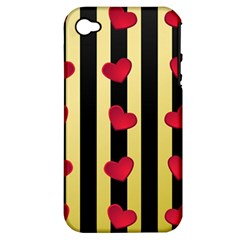 Love Heart Pattern Decoration Abstract Desktop Apple Iphone 4/4s Hardshell Case (pc+silicone)