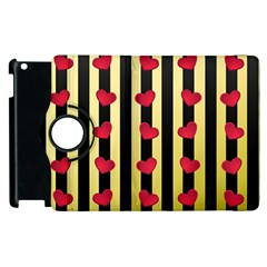 Love Heart Pattern Decoration Abstract Desktop Apple Ipad 2 Flip 360 Case