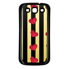 Love Heart Pattern Decoration Abstract Desktop Samsung Galaxy S3 Back Case (black)