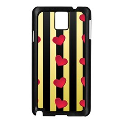 Love Heart Pattern Decoration Abstract Desktop Samsung Galaxy Note 3 N9005 Case (black)