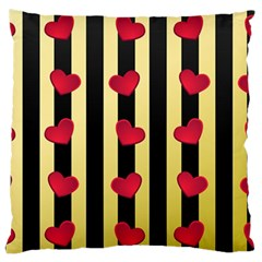 Love Heart Pattern Decoration Abstract Desktop Standard Flano Cushion Case (one Side)