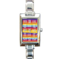 Art Background Abstract Rectangle Italian Charm Watch