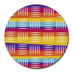 Art Background Abstract Round Mousepads by Nexatart